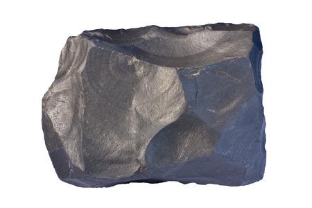 igneous: Fine-grained massive sample of basalt. Width of sample 12 cm.