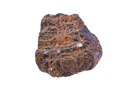 titanium: Rutile (TiO2) is an important ore mineral of titanium. Width of sample is 5 cm.