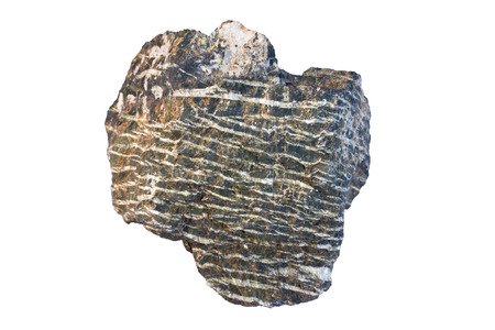 mesothelioma: Chrysotile (serpentine group mineral, serpentinite as a rock type) is the most widely used type of asbestos. Width of sample 9 cm.