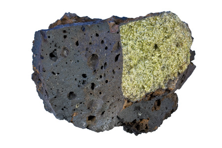 vesicular stone: The sample is from Hawaii. It is a fragment of 200 years old lava flow of Kohala volcano.