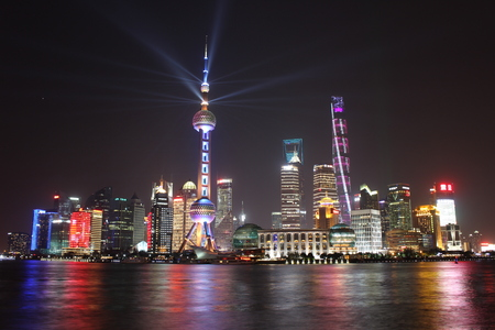 oriental pearl tower: The Oriental pearl tower in Shanghai, China across the university