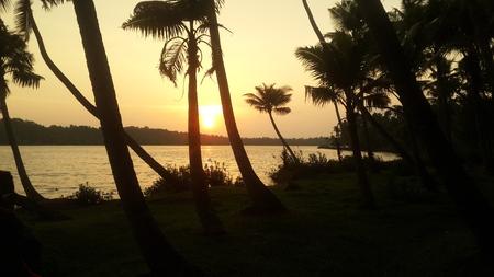 sun s: Un tramonto da Dio s Own Country Archivio Fotografico