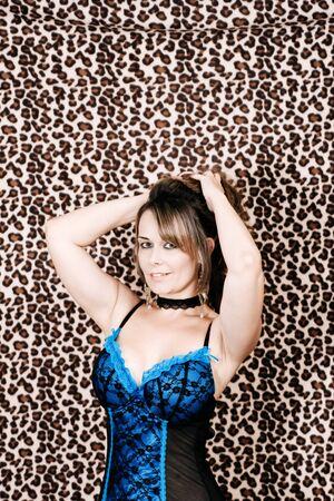 lingerie and leopardskin