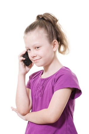 young girl using a mobile phone
