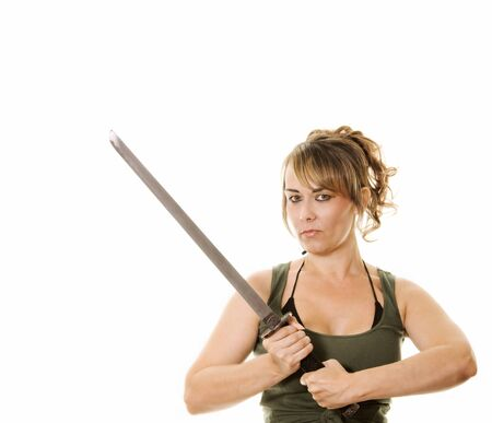 woman with samurai sword