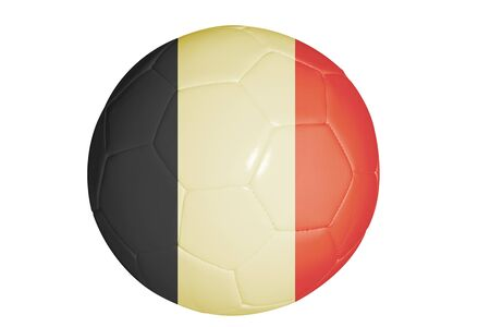 Belgium flag graphic on soccer ball isolated on white