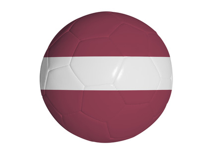 Latvian flag graphic on soccer ball Stock Photo