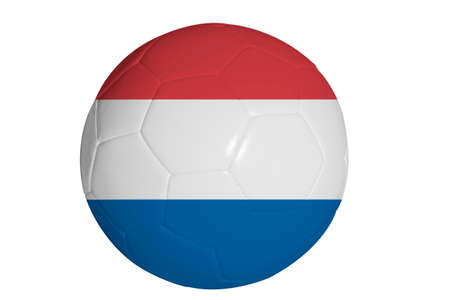 Dutch flag graphic on soccer ball
