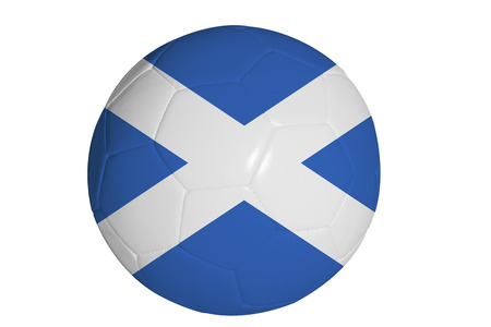 Scottish flag graphic on soccer ball Stock Photo