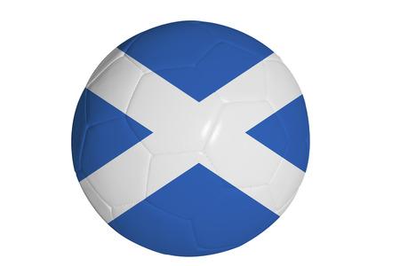 balones deportivos: Scottish gr�fico de la bandera en bal�n de f�tbol Foto de archivo