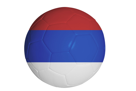 serbian: Serbian flag graphic on soccer ball