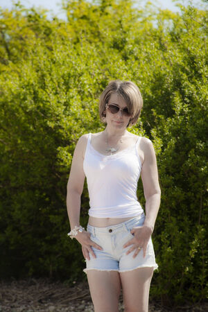 Attractive woman in summer wear photo