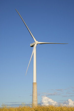 power generator: Wind power generator on the airfield. Estonia Stock Photo