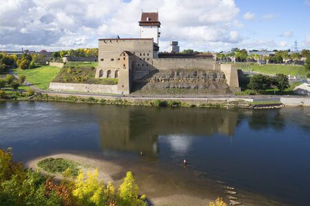 herman: View of the Herman castle sunny september afternoon. Narva, Estonia