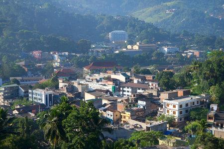 kandy: KANDY, SRI LANKA - MARCH 17, 2015: Cityscape Kandy