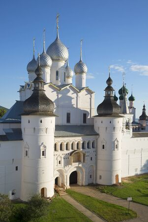 evening church: Church of the Resurrection august evening. Kremlin of Rostov the Great, Russia