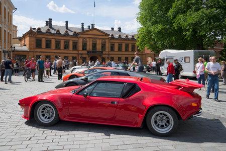 turku: TURKU, FINLAND - JUNE 13, 2015: Exhibition of sports supercars