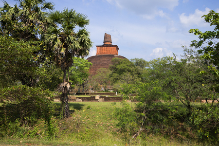 dagoba: View of the summit of Dagoba Jetavana. Historical Park Anuradhapura, Sri Lanka