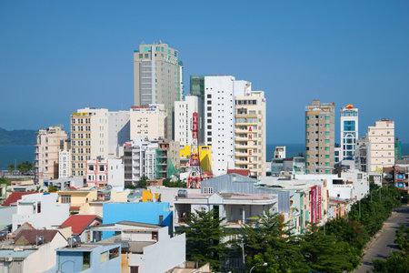 nang: DA NANG, VIETNAM - JANUARY 05, 2016: Top view of modern Da Nang sunny day