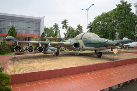 cessna: DA NANG, VIETNAM - JANUARY 06, 2016: Plane Cessna A-37 Dragonfly in the museum 5th militarized zone in Da Nang Editorial