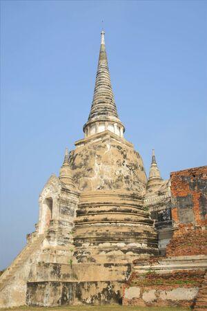stupas: One of the three ancient stupas of Wat Praesepe. Ayutthaya, Thailand