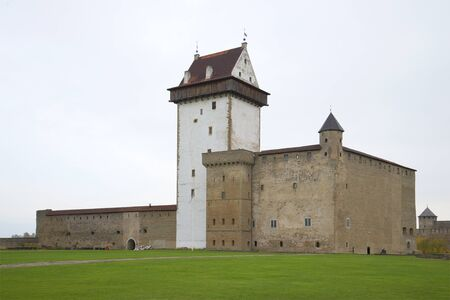 herman: Hermann castle in a cloudy autumn day. Narva, Estonia