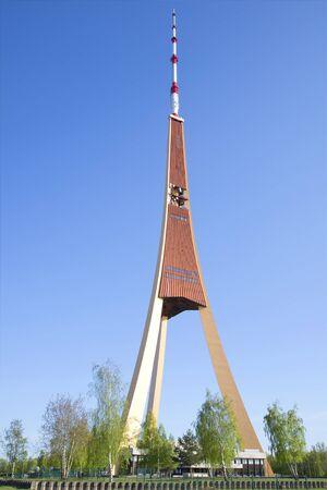 tv tower: Riga TV tower, sunny summer day, Latvia