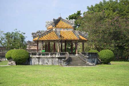 hue: The old gazebo on the territory of the Forbidden city. Hue. Vietnam