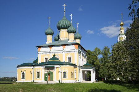 uglich russia: UGLICH, RUSSIA - AUGUST 22, 2015: Transfiguration Cathedral in the Uglich Kremlin territory. The Golden ring, Russia