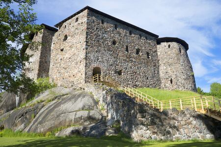 donjon: At the foot of the medieval castle of Raseborg. Finland