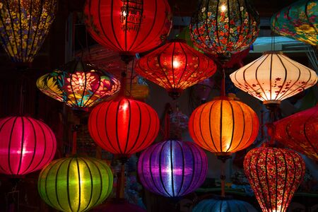 hoi an: Chinese lanterns in the gift shop of the city of Hoi An. Vietnam