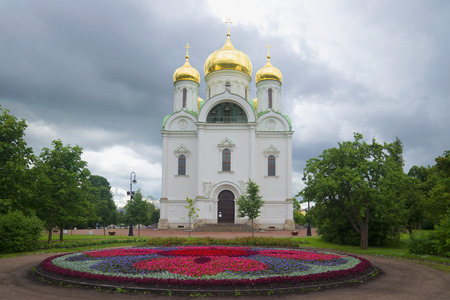 catherine: Catherine the Cathedral a rainy day. Tsarskoye Selo, Russia
