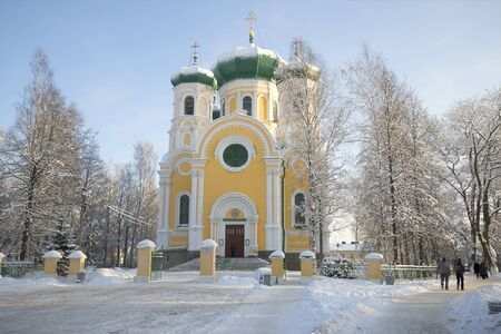 apostle paul: GATCHINA, RUSSIA - JANUARY 22, 2016: The Cathedral of St. Paul january day