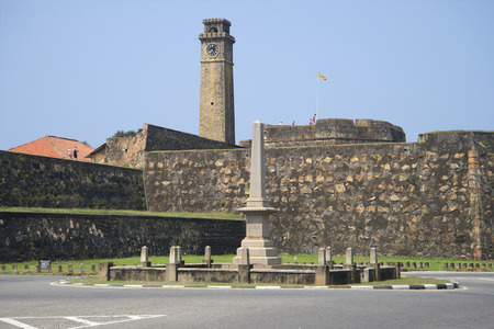 galle: GALLE, SRI LANKA - MARCH 22, 2015: The walls of the fortress of Galle, a sunny day Editorial