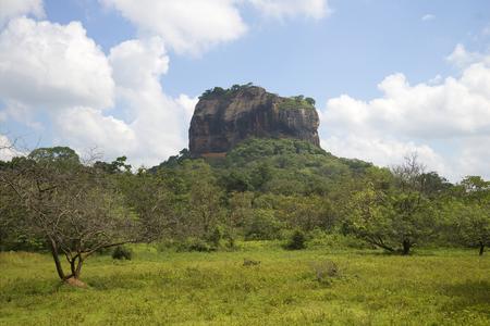 sigiriya: Views of mount Sigiriya sunny day. Sri Lanka