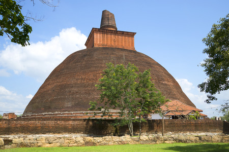 dagoba: Jetavana Dagoba closeup, summer sunny day. Anuradhapura, Sri Lanka Stock Photo