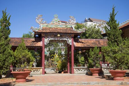 sean: In the courtyard of the pagoda Lin Sean. Dalat, Vietnam Stock Photo