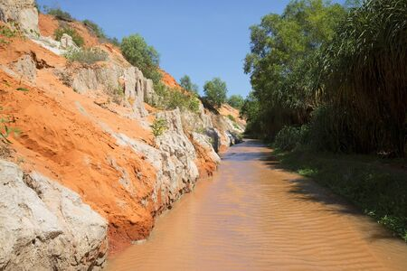 sunny south: Riverbed Creek Fairies sunny day. South Vietnam Stock Photo