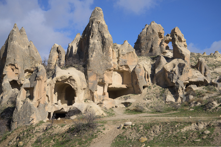lodger: Remains of ancient dwellings in the rocks of Cappadocia. Turkey