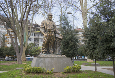muhammad: ISTANBUL, TURKEY - JANUARY 02, 2015: The monument to the poet Fuzuli Muhammad Ibn Sulayman in the district of Bebek