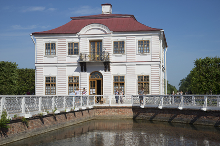 sectoral: ST. PETERSBURG, RUSSIA - JULY 03, 2015: The Palace Marly on the ponds of the Peterhof