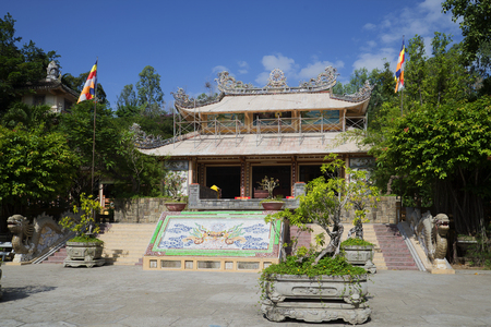 sean: Sean Long Pagoda - one of the oldest Buddhist temples Vietnam. Nha Trang City Stock Photo