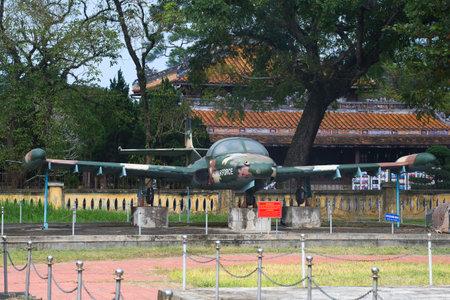cessna: HUE, VIETNAM - JANUARY 08, 2016: The Cessna A-37 Dragonfly in Hue Editorial