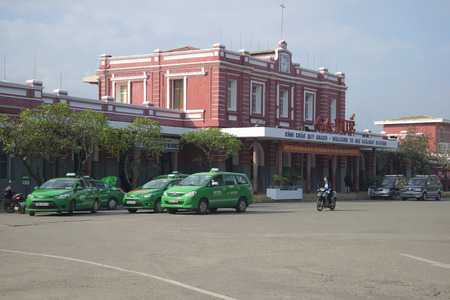 hue: HUE, VIETNAM - JANUARY 08, 2016: The building of the railway station in Hue Editorial