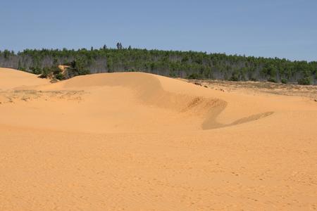 ne: View of the Red dunes near Mui Ne. South Vietnam Stock Photo