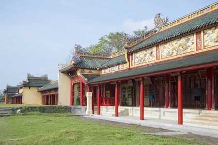 hue: Gallery of the Palace of the forbidden Imperial city. Hue, Vietnam
