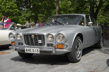 daimler: TURKU, FINLAND - JUNE 13, 2015: Jaguar 420 (Daimler Sovereign) 1966-1969 model years at the meeting of holders of cars Jaguar