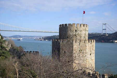 rumeli: The tower of Rumeli Hisari fortress on the Bosphorus. Istanbul, Turkey