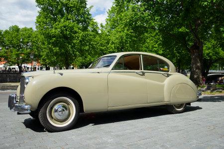 turku: TURKU, FINLAND - JUNE 13, 2015: Jaguar Mark IX - the parade of retro cars Editorial