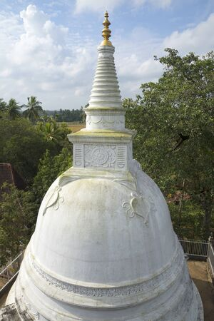 dagoba: View of the summit of Dagoba in the Palace Isurumuniya. Anuradhapura, Sri Lanka